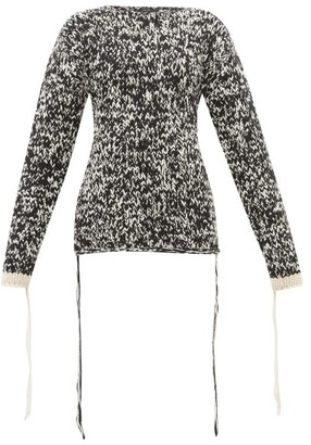 Joseph Mouline-knit Loose-thread Wool Sweater - Black White