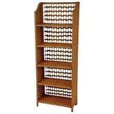 Oriental Furniture Simple Book Case, Collapsible Natural Fiber 5 Shelf Unit