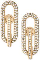 Michael Kors Gold-Tone Pavé Loop Post Earrings