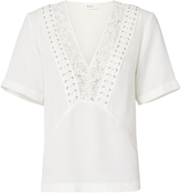 A.L.C. Annora Lace-Up Silk Top