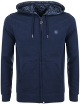 Pretty Green Busby Paisley Hoodie Navy