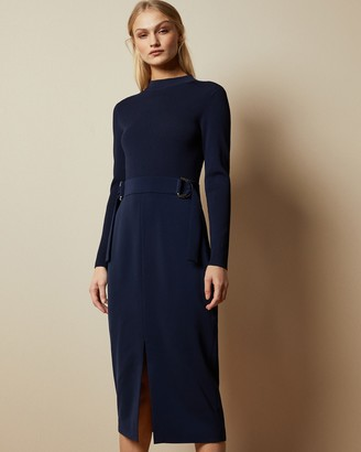 Ted Baker ELLHAD Knitted mockable D-ring dress