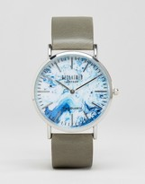 Reclaimed Vintage Marble Canvas Watch In Gray