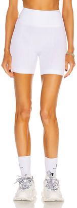 ALALA Barre Seamless Short in White | FWRD