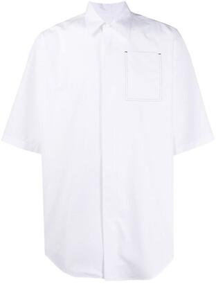 Jil Sander Short-Sleeved Patch-Pocket Boxy Shirt