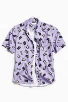 Urban Outfitters VHS Print Short Sleeve Button-Down Shirt