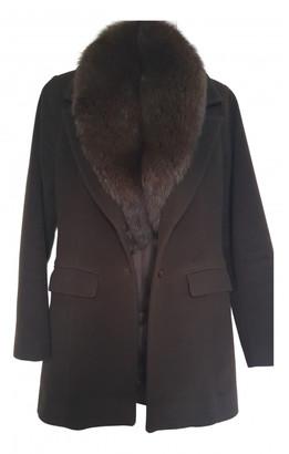 Flavio Castellani Brown Wool Coats