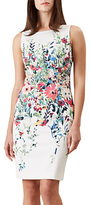 Hobbs Fiona Dress, Ivory/Multi