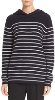 Vince Women's Breton Stripe Cashmere Hoodie