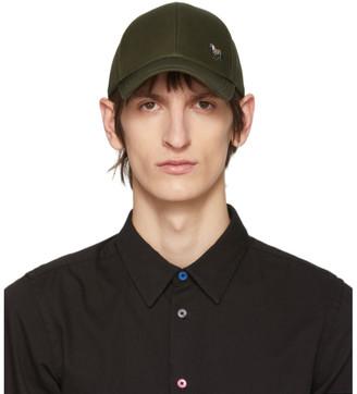 Paul Smith Khaki Cotton Zebra Baseball Cap