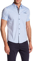 Heritage Oxford Dot Print Slim Fit Sport Shirt