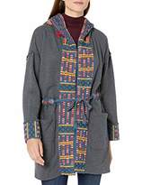 Johnny Was JWLA By Women's Cotton Embroidered Hooded Coat