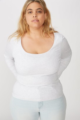 Cotton On Curve Everyday Long Sleeve Scoop Top