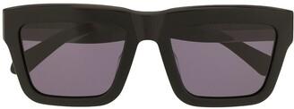 Karen Walker Crystalline square frame sunglasses