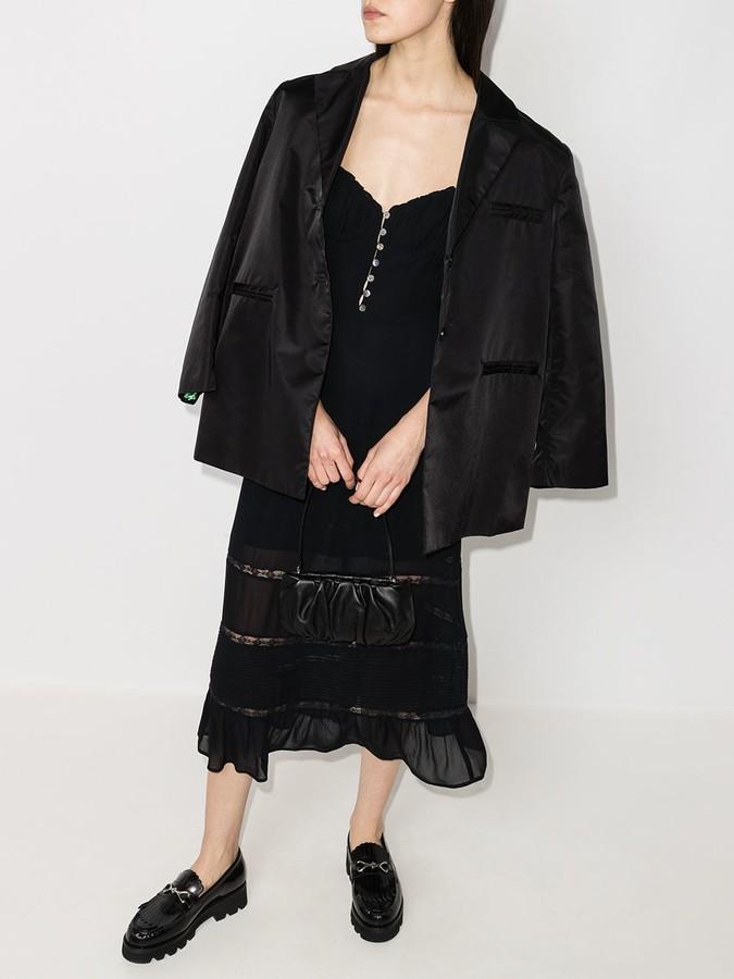 Reformation Harvest lace-detailing midi dress