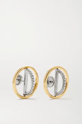 Delfina Delettrez 18-karat Yellow And White Gold Diamond Earrings - one size