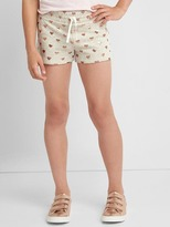 Print terry dolphin shorts