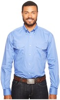 Roper 0856 Solid Poplin - Periwinkle Men's Clothing