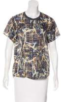 Theyskens' Theory Silk Short Sleeve Top