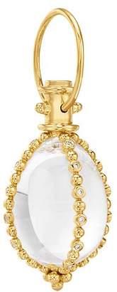 Temple St. Clair 18K Yellow Gold Celestial Crystal & Diamond Small Sassini Amulet