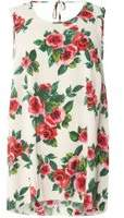Dorothy Perkins Womens DP Curve Plus Size Cream Rose Print Tie Back Camisole Top- Cream