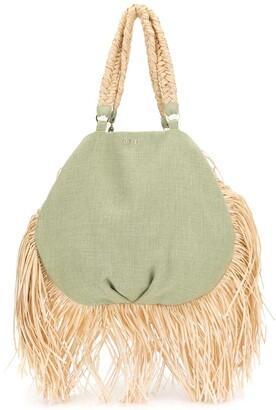 0711 Ani fringed tote bag