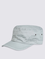 M&S Collection Washed Panelled Cap