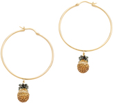 Noir Pineapple Hoop Earrings
