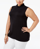 Alfani Plus Size Turtleneck Shell, Only at Macy's