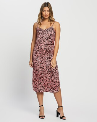 Only Women's Pink Midi Dresses - Maaria Dress - Size One Size, 38 at The Iconic