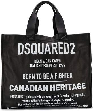 DSQUARED2 large logo tote bag