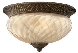 "Dovecove Plantation 3 - Light 16"" Simple Urn Flush Mount Energy Star Compliant: Standard, Bulb Type: Incandescent"