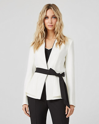 Le Château Collarless Belted Blazer