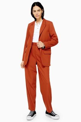 Topshop Womens Orange Slouch Trousers - Orange