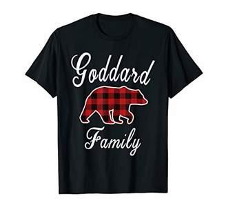 GODDARD Family Bear Red Plaid Christmas Pajama Gift T-Shirt