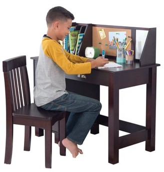 Kid Kraft Study Desk with Chair, Multiple Colors