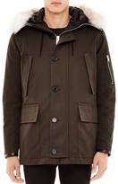 Sandro Antarctic Fur Trim Parka
