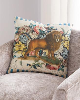 John Derian Manes Delft Pillow
