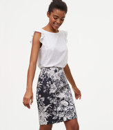 LOFT Tall Botanic Pencil Skirt