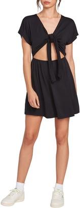 Volcom x Coco Ho Tie Front Minidress