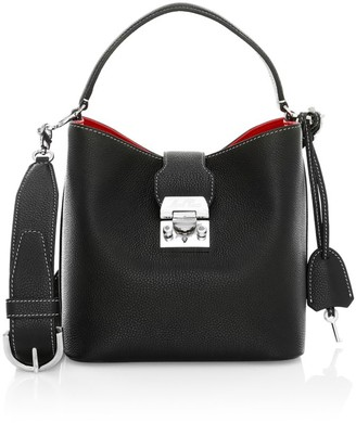 Mark Cross Mini Murphy Leather Bucket Bag