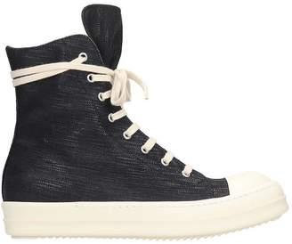 Drkshdw Sneaks Sneakers In Black Denim