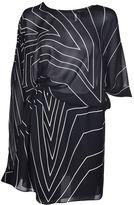 Saint Laurent Star Print Asymmetric Mini Dress