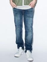 Nudie Jeans Blue Thin Finn Flood Used Denim Jeans