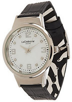 As Is Liz Claiborne New York Print & Solid Flip Strap Watch