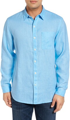 Tommy Bahama Sea Glass Breezer Classic Fit Button-Up Linen Shirt