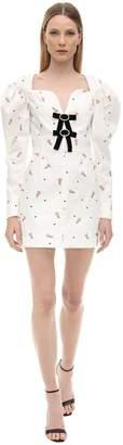 Marianna Senchina Floral Print Cotton Mini Dress