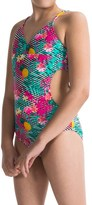 Big Chill Cutout One-Piece Swimsuit - Fully Lined (For Little Girls)