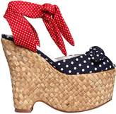 Jeffrey Campbell 140mm Polka Dot Cotton Wedges