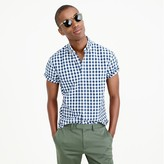 J.Crew Secret Wash short-sleeve shirt in vintage navy gingham